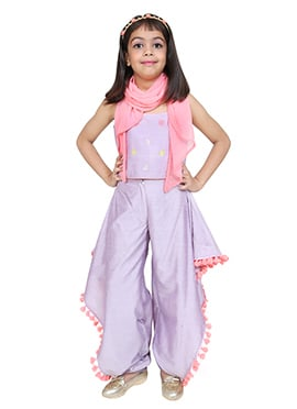 Chiquitita Lavender Kids Indowestern Set