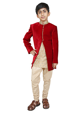 Chiquitita Red Kids Sherwani