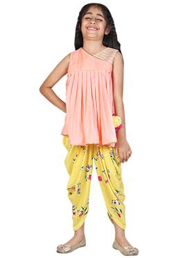 Chiquitita Short Angrakha With Printed Dhoti Set