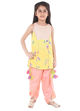 Chiquitita Short Kurti With Dhoti Pant