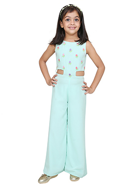 Chiquitita Sky Blue Kids Jumpsuit