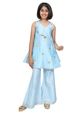 Chiquitita Sky Blue Kids Palazzo Suit