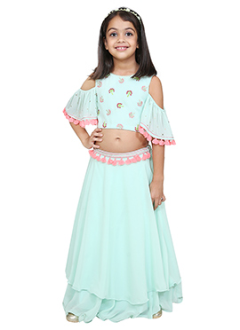 Chiquitita Sky Blue Kids Skirt Set