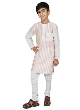 Chiquitita White Kids Kurta Pyjama Set