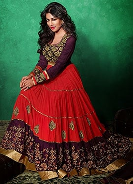 Chitrangada Singh Floor Length Anarkali Suit