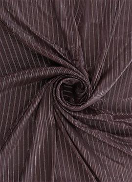 Chocolate Brown Zari Work Satin Fabric