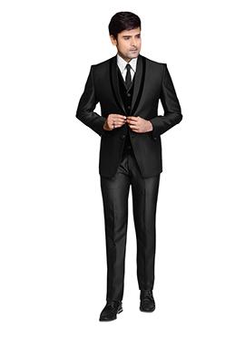 Classic Black Lapel Style Suit