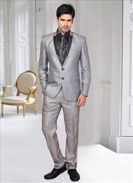 Classic Grey Lapel Style Suit