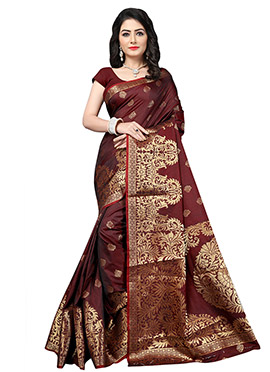 Coffee Brown Benarasi Silk Saree