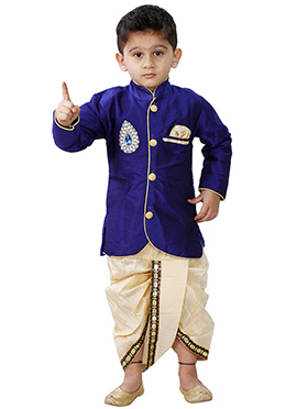 Combo Of Blue Dhoti Kurta