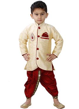 Combo Of Cream Dhoti Kurta
