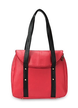 Coral Pink Bagsy Malone Leather Hand Bag