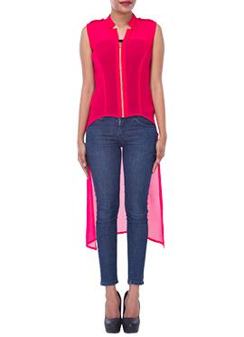 Fuchsia Pink Georgette Tunics