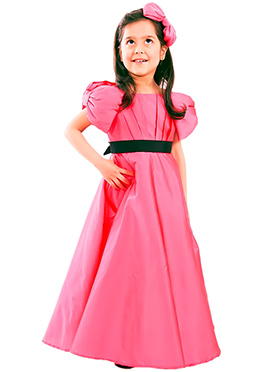 Coral Pink Kidology Bow Gown