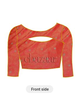 Coral Pink Paper Silk Blouse