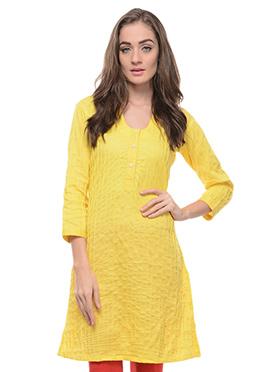 Cotton Yellow Kurti
