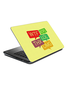 Cream Acronym Laptop Skin