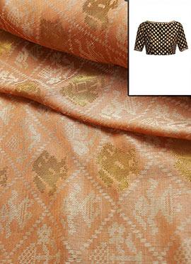 Cream Art Silk Blouse
