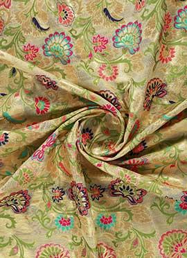Cream Brocade Fabric