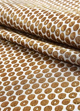 Cream Brocade Fabric