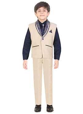 Cream Cotton Kids Suit