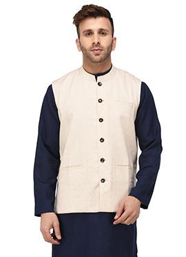 Cream Cotton Nehru Jacket