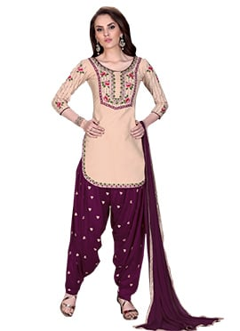 Cream Cotton Salwar Suit