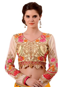 Cream Embroidered Blouse