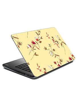 Cream Floral Laptop Skin