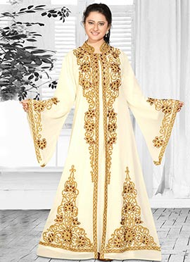 Buy Cream Islamic Wear Dresses | Online Cream Islamic Wear | Latest