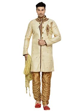 Cream Indowestern Kurta Pyjama