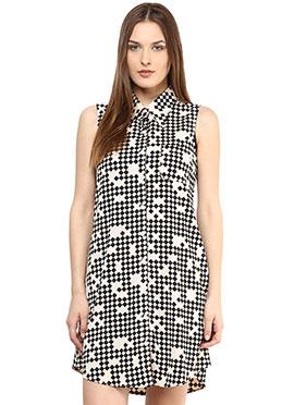 Cream N Black Shakumbhari Shirt Dress