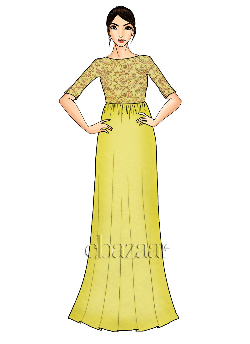 ... Dress With Gold Embroidery. image.AlternateText