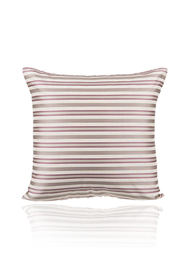 Cream N Pink Art Silk N Poly Silk Cushion Cover