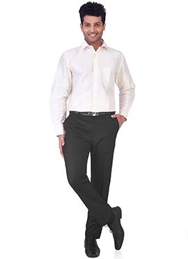 Cream Pure Silk Classic Shirt
