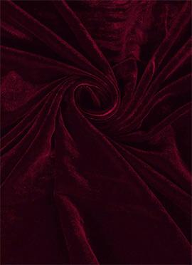 Dark Acai Velvet Fabric