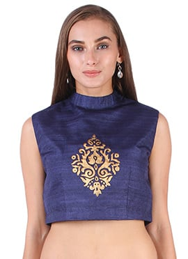 Dark Blue Studiorasa Crop Top