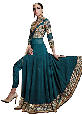 Dark Green Ankle Length Anarkali Suit