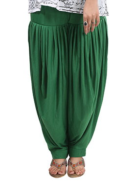 Dark Green Lycra Patiala Pant