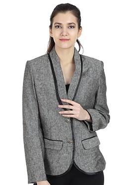 Dark Grey Linen Jacket