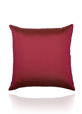 Dark Magenta Art Silk Cushion Cover