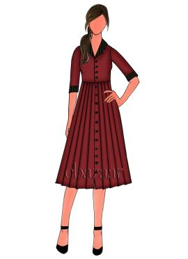 Dark Maroon Cotton Kurti