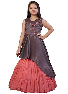 bb480ebd1e2c1 Buy Peach Color Girl's Dress | Online Peach Colour Girl's Dress ...