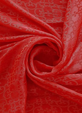 Dark Orange Makhmali Satin Fabric