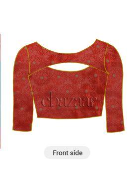 Dark Orange Paper Silk Blouse