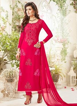 Dark Pink Churidar Suit