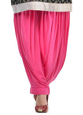 Dark Pink Lycra Patiala Pant