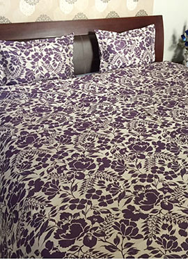 Dark Purple Nylon Bed Spread