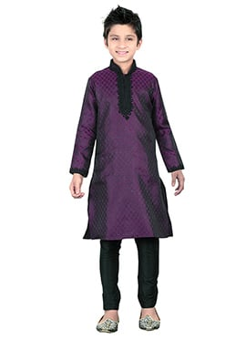 Dark Purple Teens Kurta Pyjama