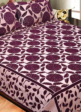 Dark Purple Wool Bed Spread